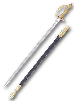 Army Sword with Leather Scabbard