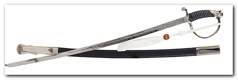 Marine NCO Sword Silver Replica